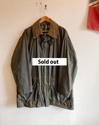 Barbour 2Warrant BORDER Green size46 goodcondition